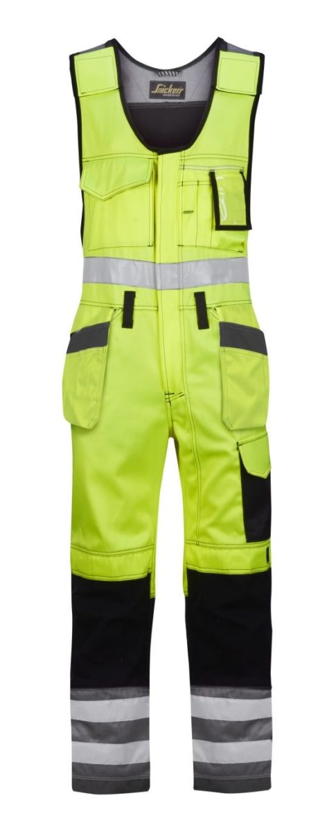 Snickers 0213 High-Vis One-piece Holster Pocket Trousers, Class 2