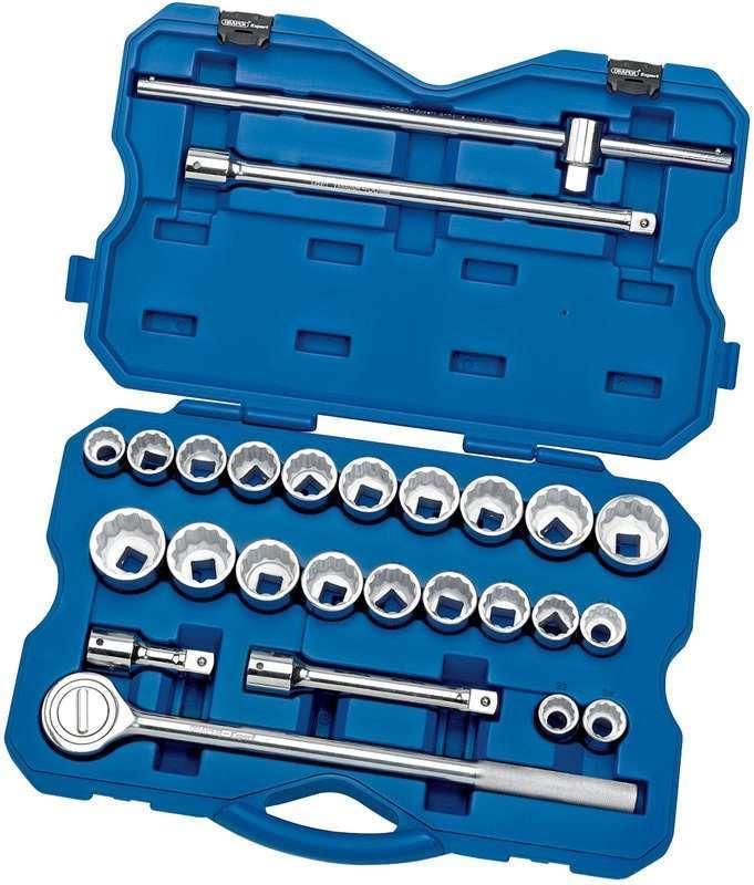 """Draper 26 Piece 3/4"""" Sq. Dr. MM/AF Combined Socket Set 02362"""