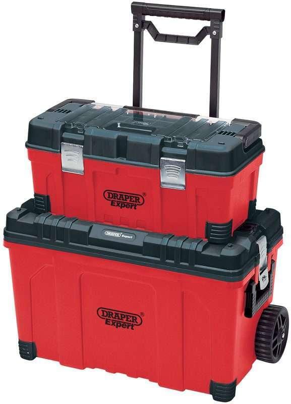 Draper Mobile Contractors 56L Chest and 22L Tool Box 03080