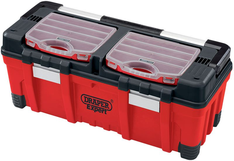 Draper 30L Tool Box with Organisers and Tote Tray 05178