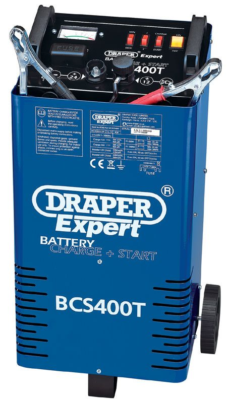 Draper 12/24V 400A Battery Start/Charger with Trolley 07263