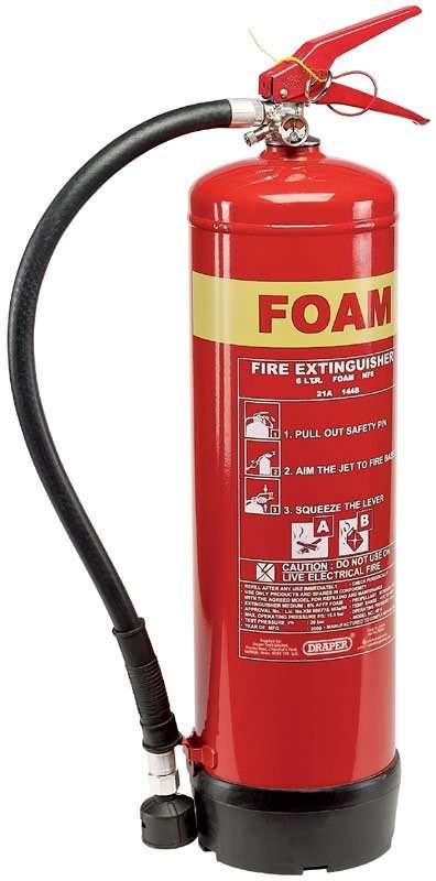 Draper 6L Foam Fire Extinguisher