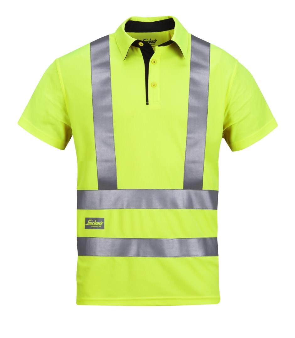 Snickers 2743 High-Vis A.V.S. Polo Shirt, Class 2/3