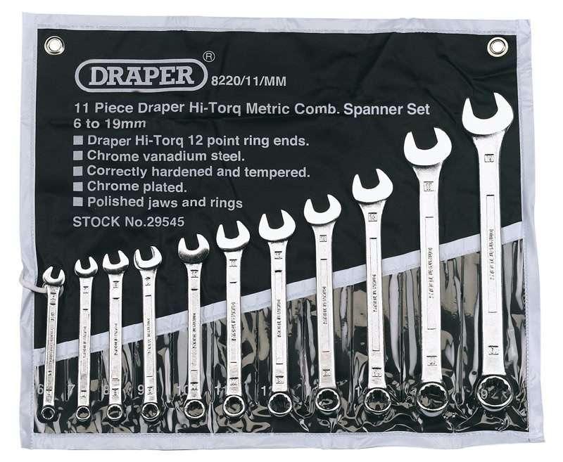 Draper 11 Piece Metric Combination Spanner Set