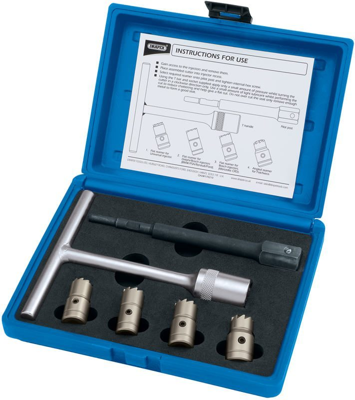 Draper 6 Piece Diesel Injector Seat Cutter Set