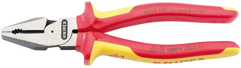 Draper Knipex 200mm Fully Insulated High Leverage Combination Pliers