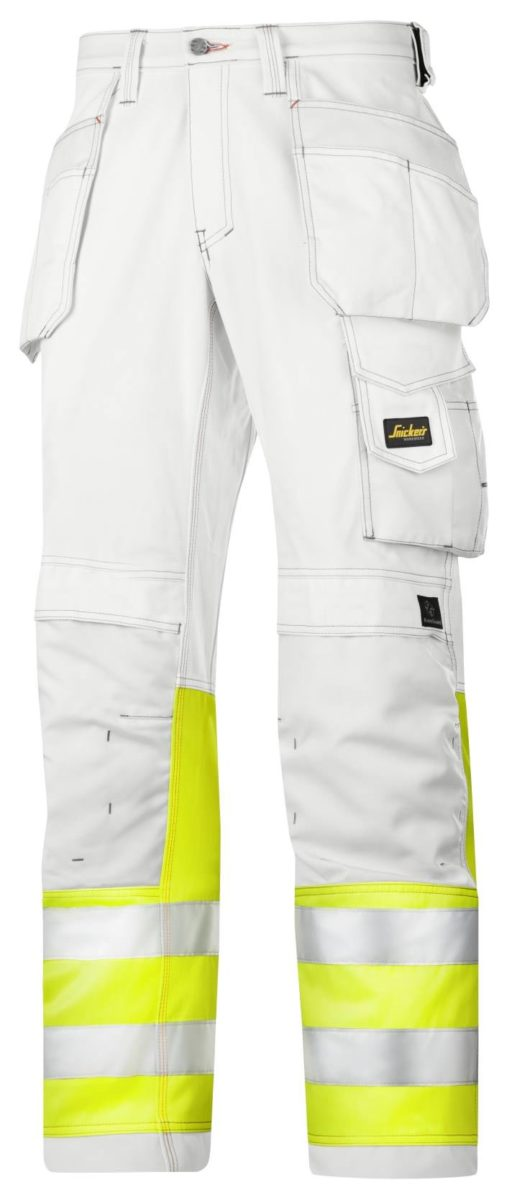 Snickers 3234 Painter's High-Vis Trousers, Class 1