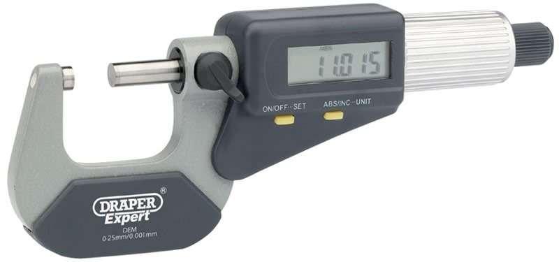 Draper Dual Reading Digital External Micrometer