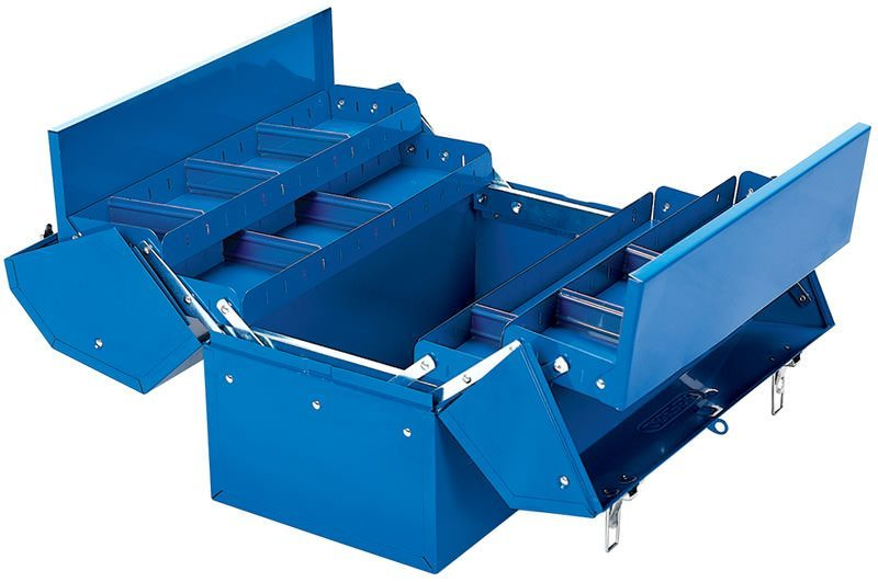 Draper 35L Barn Type Tool Box with 4 Cantilever Trays