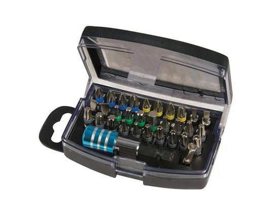 Silverline 32 Piece Colour Bit Set