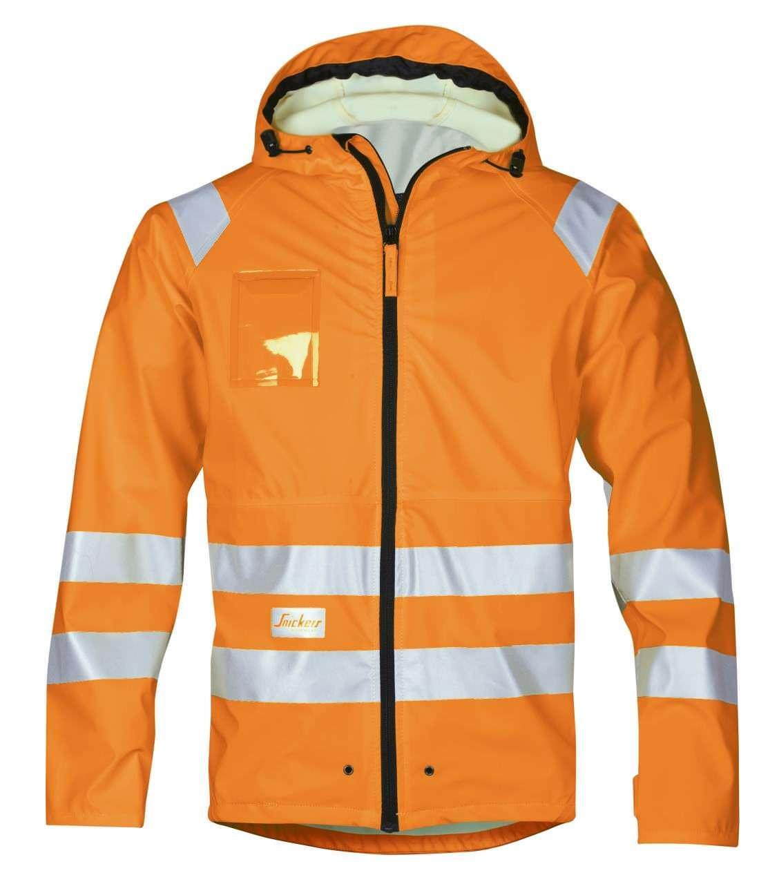 Snickers 8233 High-Vis PU Rain Jacket, Class 3