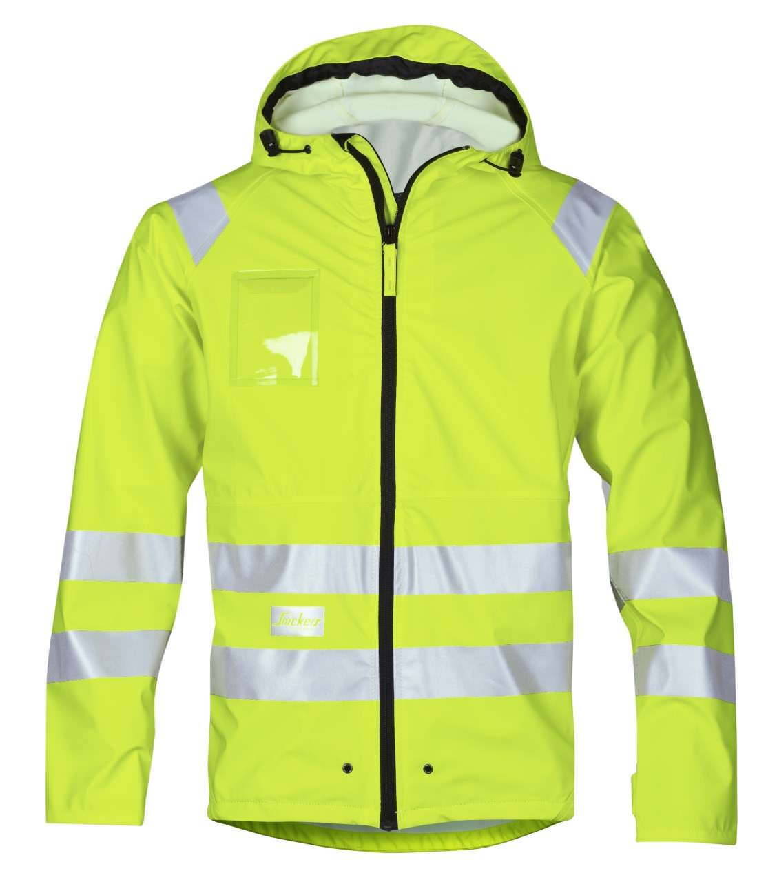 Snickers 8233 High-Vis PU Rain Jacket, Class 3