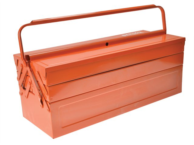 Bahco Orange Metal Cantilever Toolbox 22in