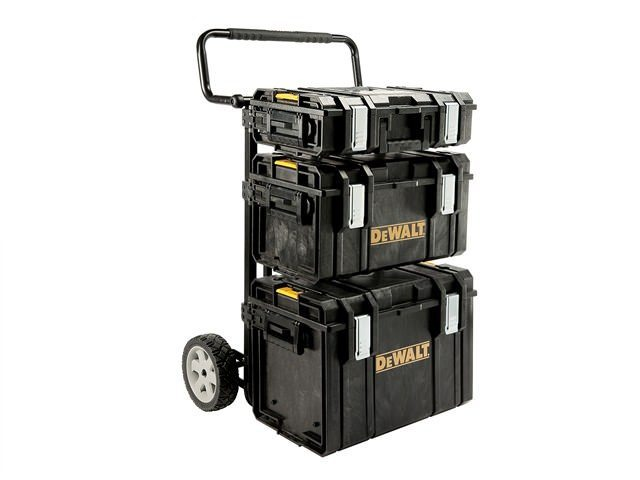 DeWalt Toughsystem Trolley & 3 DS Tool Boxes