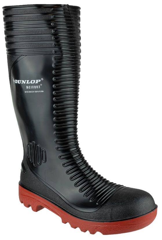 Dunlop A252931 Acifort Ribbed Full Safety Wellington Boot