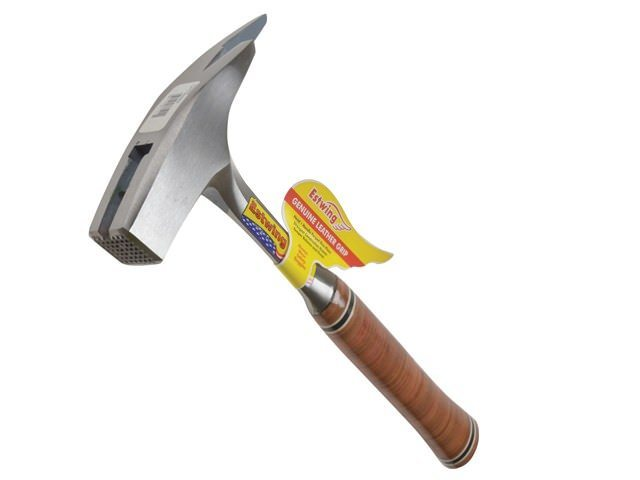 Estwing Roofers Pick Hammer Milled Face - Leather Grip