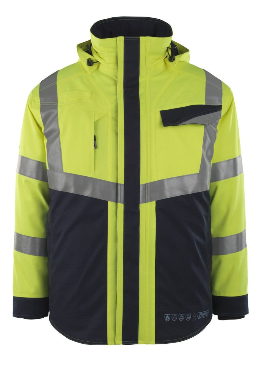 Mascot® Emmen Yellow Flame Retardant Jacket