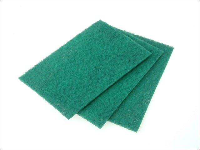 Faithfull Hand Pad Green 230 x 150mm General Purpose (Pack of 10)