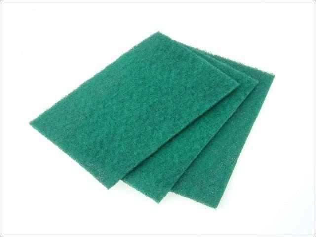 Faithfull Hand Pad Green 230 x 150mm General Purpose (Pack of 10)