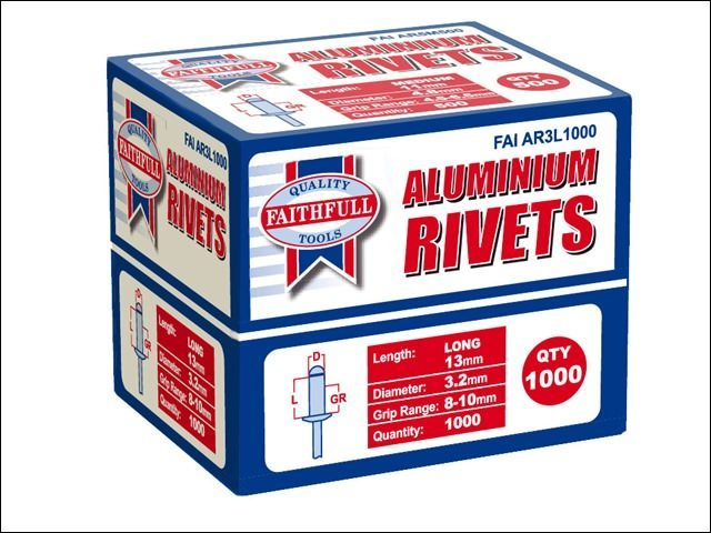 Faithfull Aluminium Rivets Bulk Packs