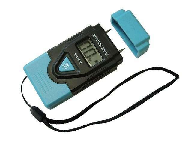 Faithfull Damp & Moisture Meter LCD Display