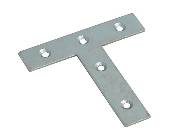 Tee Plates Zinc Plated 76mm