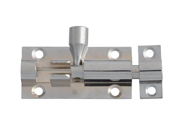 Door Bolt - Chrome Finish