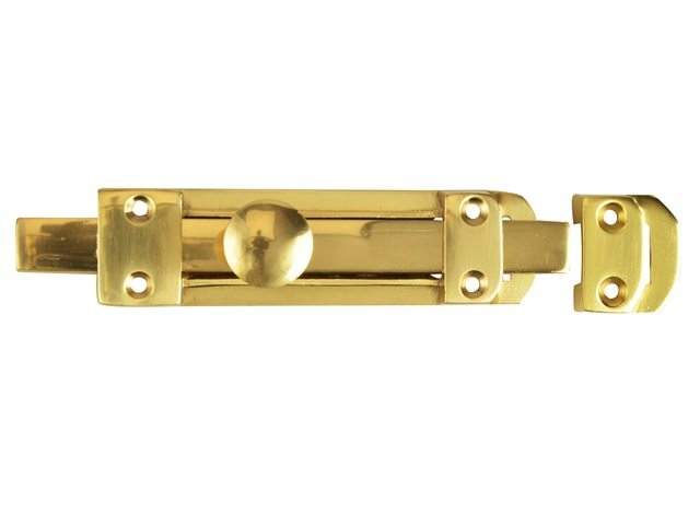 Door Bolt Heavy - Brass 150mm (6in)