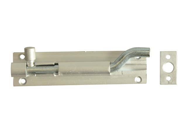 Door Bolt Necked - Aluminium 100mm (4in)