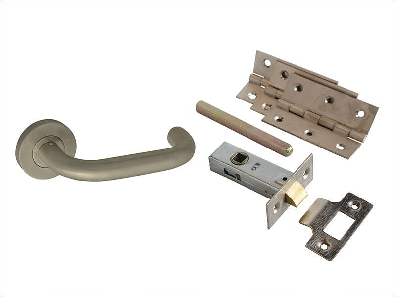 Return To Door Handle Pack Stainless Steel