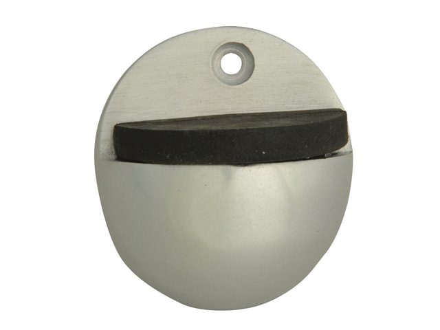 Oval Door Stop Aluminium 50mm