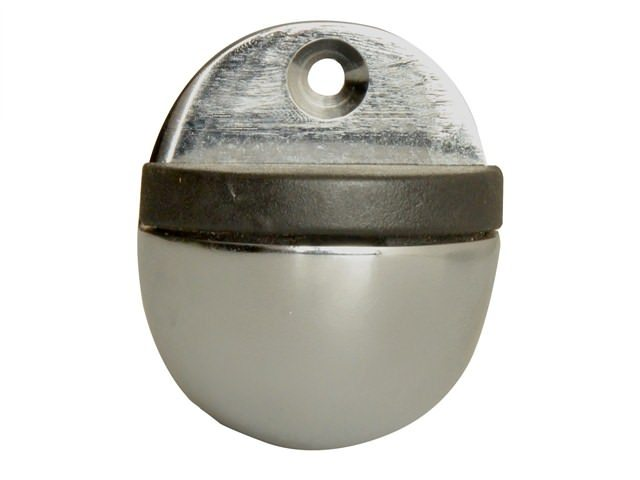 Oval Door Stop Chrome Finish 40mm
