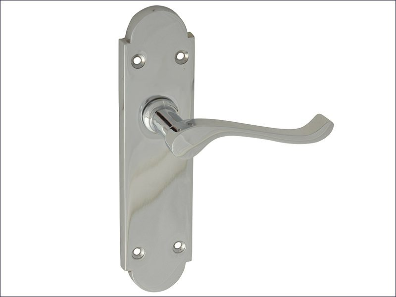 Chrome Finish Gable Backplate Handle