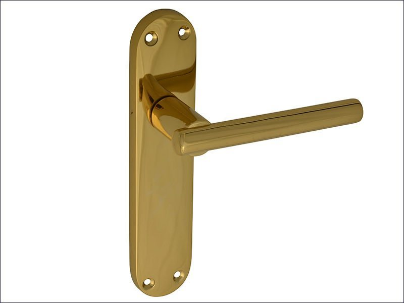 Modular Backplate Handle Brass Finish