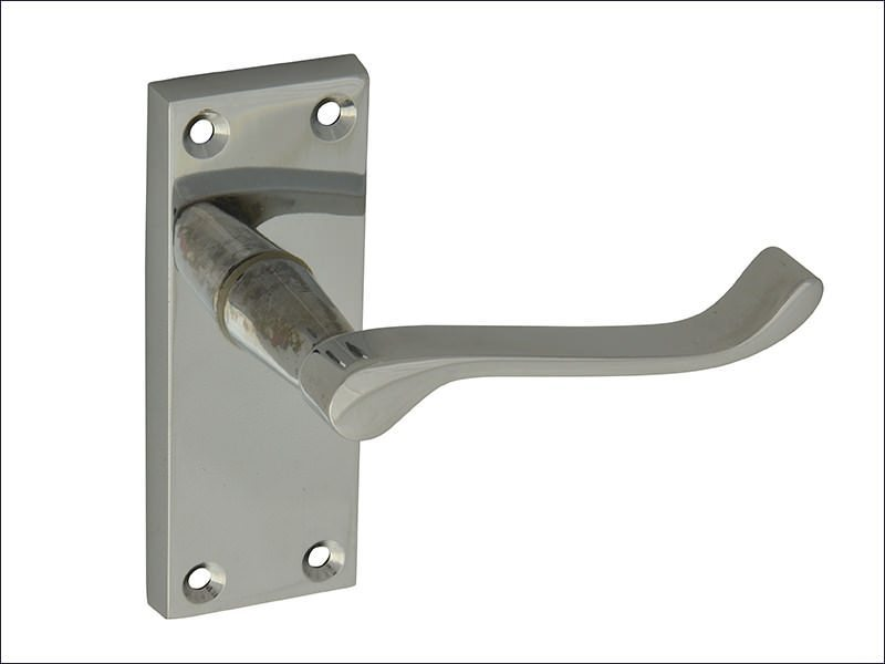 Scroll Chrome Backplate Handle