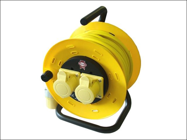 Cable Reel 50 Metre 16amp 1.5mm Cable 110 Volt