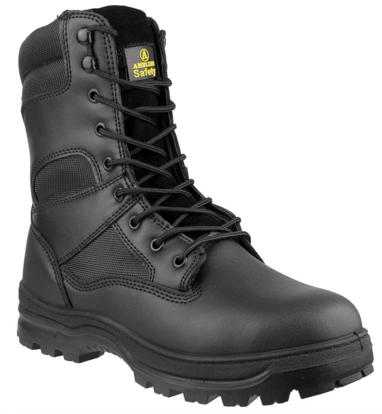 Amblers FS008 Black Leather High Safety Boot