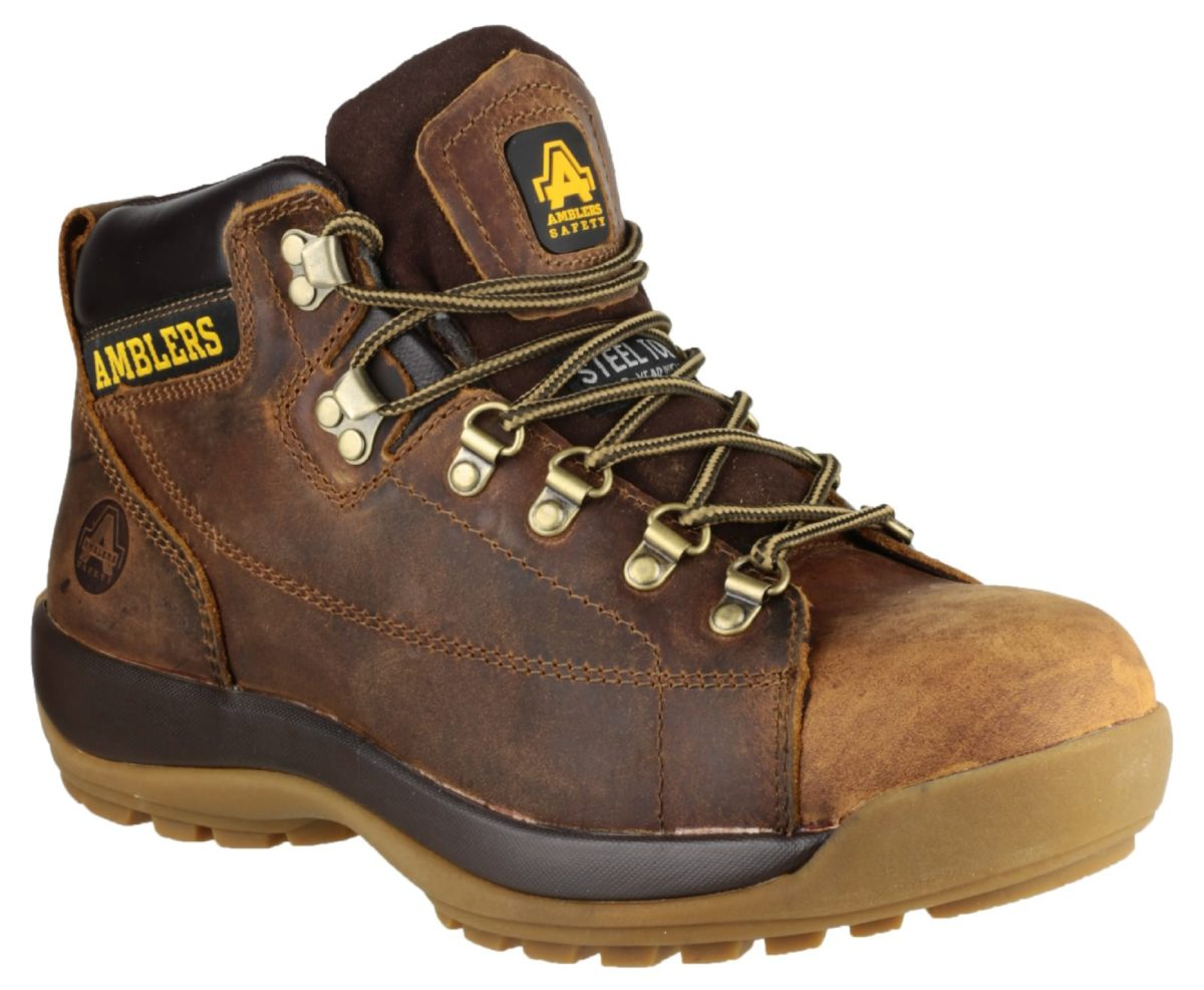 Amblers FS126 Brown Mid Safety Boot