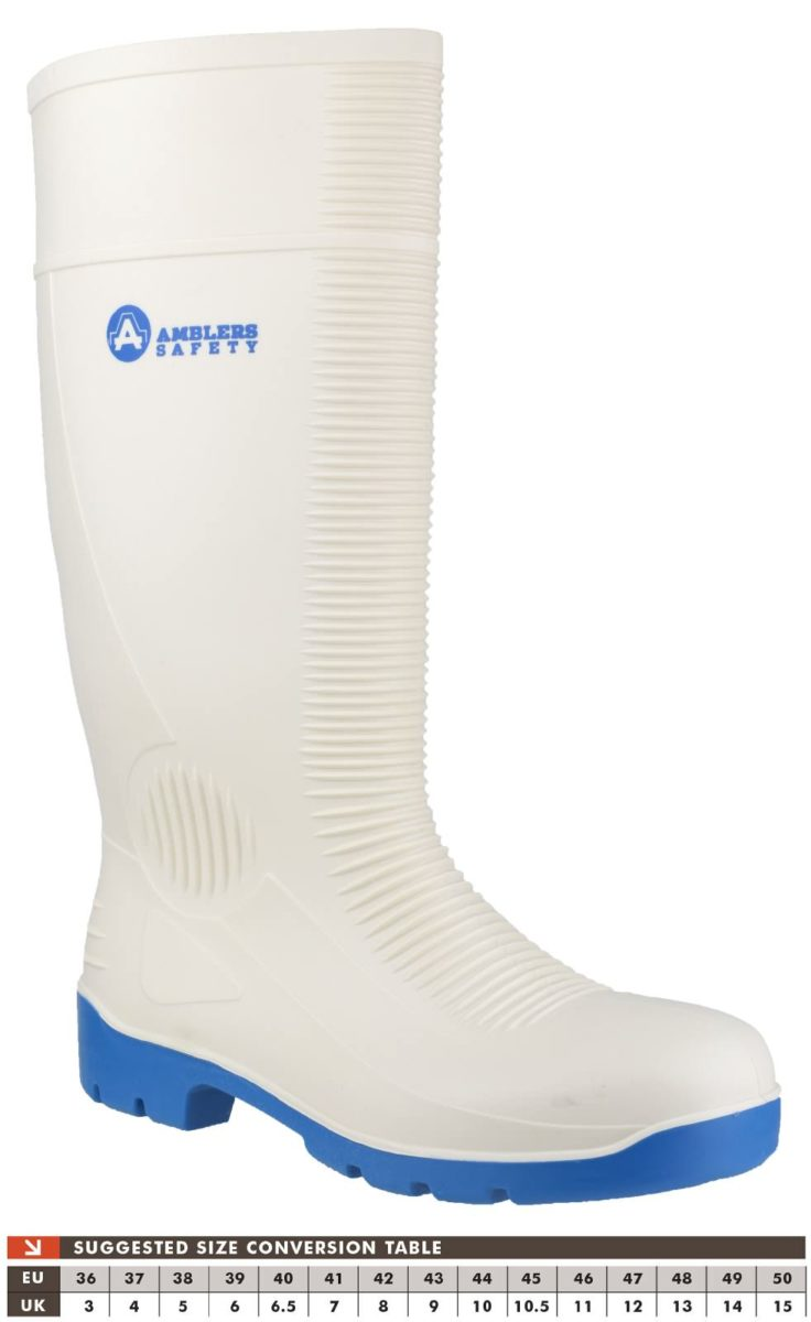 Amblers FS98 White Safety Wellington Boot