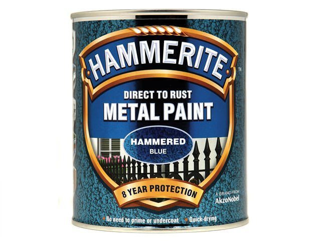 Hammerite Direct to Rust 750ml Hammered Finish Blue