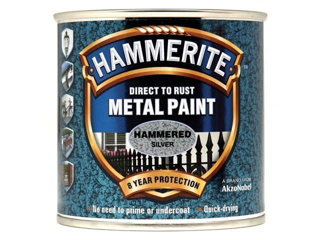 Hammerite Direct to Rust Hammered Finish Silver