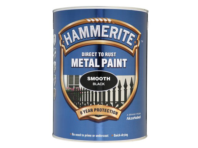 Hammerite Direct to Rust Smooth Finish Black