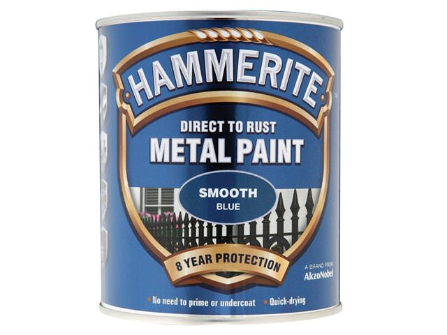 Hammerite Direct to Rust Smooth Finish Blue