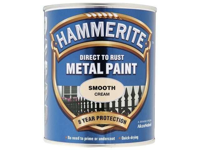 Hammerite Direct to Rust 750ml Smooth Finish Cream