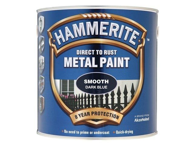 Hammerite Direct to Rust Smooth Finish 2.5L Dark Blue