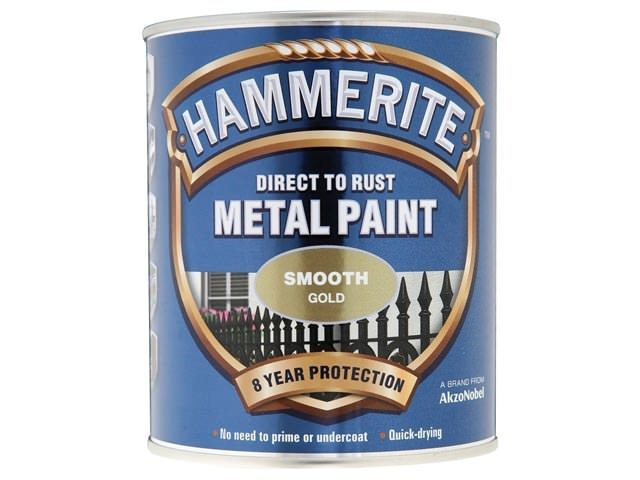 Hammerite Direct to Rust Smooth Finish Gold