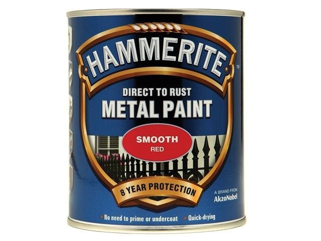 Hammerite Direct to Rust Smooth Finish Red