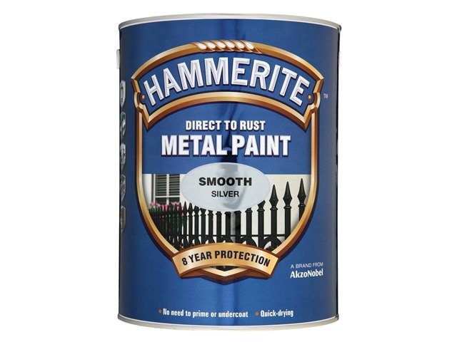 Hammerite Direct to Rust Smooth Finish Silver
