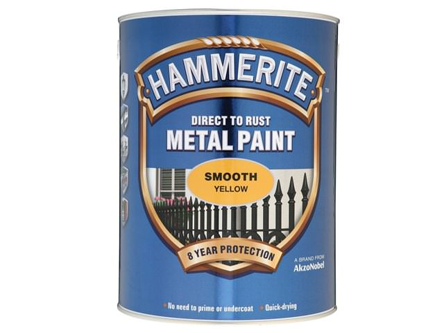 Hammerite Direct to Rust Smooth Finish Yellow