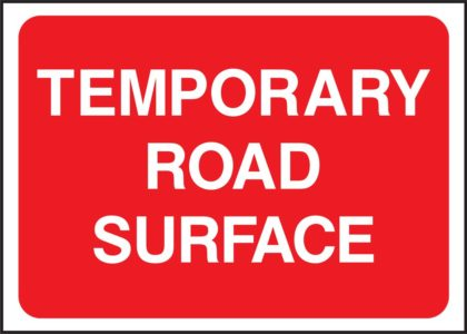 1050 x 750mm Road Sign Plates